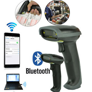Bluetooth Barcode Scanner Wifi Wireless Laser Usb Scan Gun Label Reader Scan