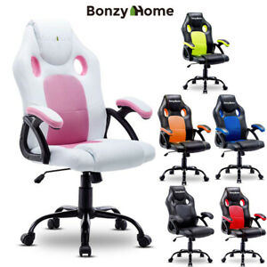 Office Chair Executive Gaming Computer Desk Seat Adjustable Swivel Desk Chair Us