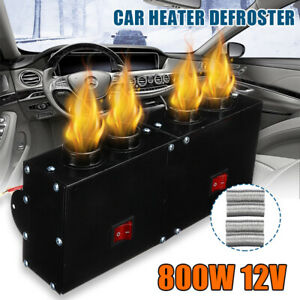 12v 800w Car Under Dash Air Heater Defroster 4 Ports Warm Windscreen Demiste