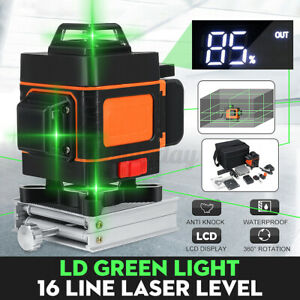 5 12 16line 360 Rotary Green Laser Level Self Leveling Horizontal Vertical Y