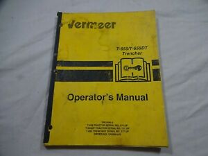 Vermeer T 655 T 655dt Trencher Operators And Maintenance Manual 105400 l65