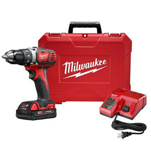 Milwaukee M18 18v Li ion Compact 1 2 In Drill driver 2606 21ct New