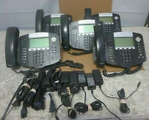 Lot Of 5 Polycom Soundpoint Ip550 Sip Voip Business Phones W stands ac Adapters