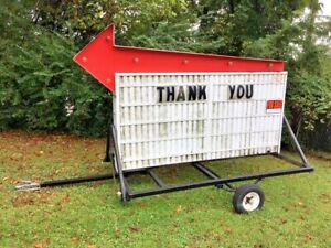 Letter Sign With Trailer