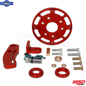 Msd Flying Magnet Crank Trigger Kit Fits Small Block Chevy Red