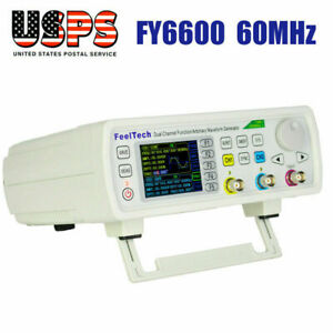 New Digital Fy6600 60mhz Dual channel Dds Function Waveform Signal Generator