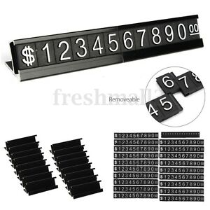 Black Base Adjustable Number Letter Price Display Counter Stand Tag Label