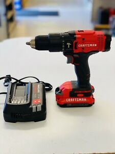 Craftsman V20 Lithium Ion 1 2 Hammer Drill Kit cmcd711c2 New Free Shipping