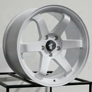 Avid1 Av06 18x9 5 5x114 3 38 Matte White Wheels 4 73 1 18 Inch Rims