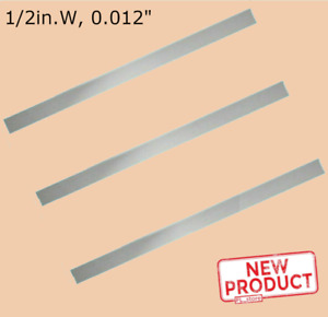 3 Pack Stainless Steel Sheet Metal Strips 1 2 Inch Wide X 12 Long X 012 Thick