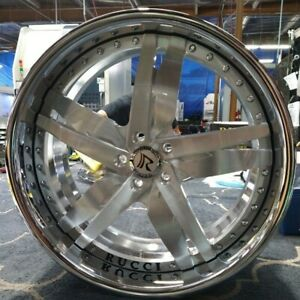 24 Custom Forged Wheels 2 Piece Standard 4 Set Rucci Asanti Dub Amani Rims