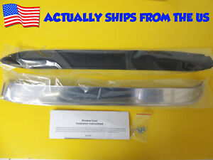 Stainless Door Glass Vent Window Visor Kit Fits 73 79 Ford F100 F150 F250 F350