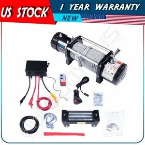For 16 18 Chevrolet Silverado 12v 12000lb Electric Winch Tow Towing Steel Cable