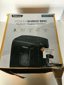 Fellowes Powershred 8mc 8 sheet Micro cut Paper Shredder Black 1111