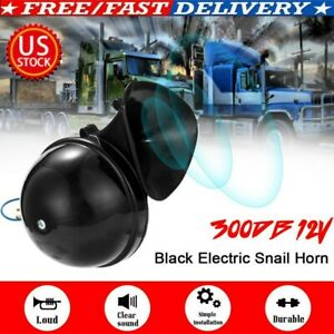 300db Loud Air Electric Snail Single Horn Fit For 12v Car Truck Lorry Suv Rv Kit
