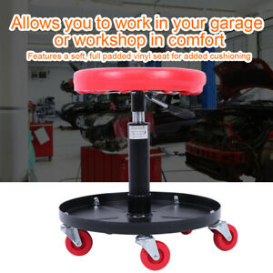 Adjustable Rolling Lift Seats Chair Stool For Mechanic Garage Auto Repair Shop