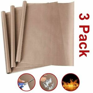 Teflon Sheets Heat Press Transfer Sheet Non Stick Copper Bbq Grill Mats 3 Pack