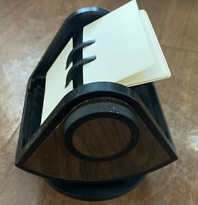 Rolodex Sw 24c Faux Wood Large Round File Swivel Rotary Usa Vintage