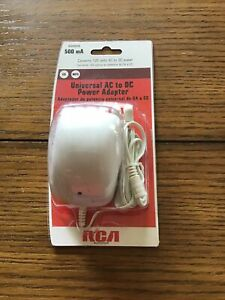 Rca 500ma Universal Ac To Dc Adjustable Voltage Power Supply Adapter White