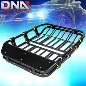 51 X 41 Roof Rack Top Cargo Baggage Carrier Basket Wind Fairing Deflector Black