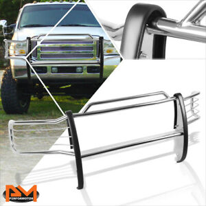 For 99 07 Ford Superduty Excursion Bumper Brush Grille Guard Protector Chrome