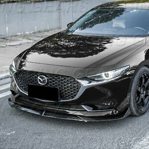 Fit 2019 2021 Mazda3 Mazda 3 Painted Black Jdm Front Bumper Body Kit Spoiler Lip