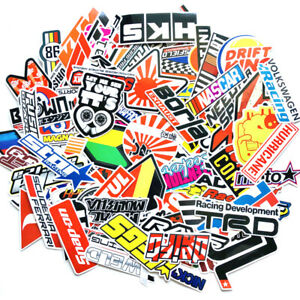 100pcs Vinyl Jdm Stickers Pack Helmet Car Motorcycle Racing Motocross Decals Lot