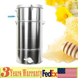 Two 2 4 Frame Honey Extractor Durable Stainless Steel Beekeeping Bee Hive Equip