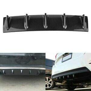 1x Carbon Style Rear Lower Bumper Diffuser Fin Spoiler Lip Wing Splitter 23 X6