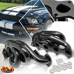 For 05 10 Ford Mustang 4 6 V8 Stainless Steel Black Coated Shorty Exhaust Header