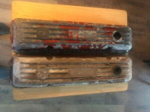 Vintage Finned small Block Chevy Valve Covers