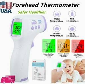 Non contact Thermometer Digital Infrared Forehead Handheld Laser Temperature Gun
