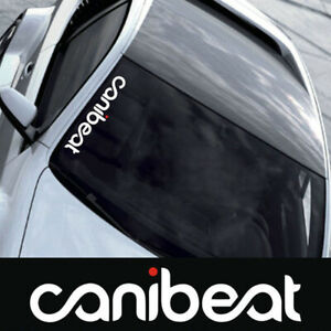 Canibeat Hellaflush Graphic Front Windshield Decal Vinyl Car Sport Sticker e
