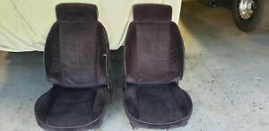 Pair Of Seats For 3rd Gen Camaro Firebird Black Cloth Bucket Seats