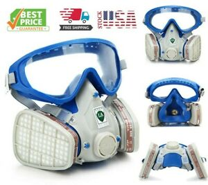 Respirator Gas Mask Full Face Cover Paint Spraying Chemical Comprehensive Mask