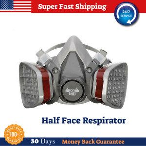 Respirator Gas Mask Half Face Cover Paint Spraying Chemical Comprehensive Mask