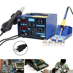 2 In 1 862d Smd Soldering Station Iron Hot Air Gun Rework Station Digital Tool