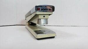 Vintage 1970 s Acco 20 Brown And Tan With Chrome Heavy Duty Desk Stapler