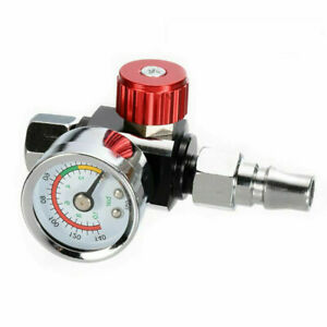 1 4 Air Valve Regulator Tool Tail Pressure Gauge Nozzle For Spray Gun Mini