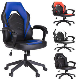 Racing Gaming Chair Executive Bonded Leather Computer Office Chair With Massage