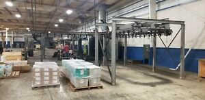 Wet Paint Line 170 Feet Long With Spray Booth And Ducting
