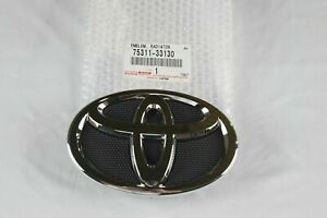 New 2007 2009 Toyota Camry Hood Grill Black Chrome Grille Emblem 20 Off