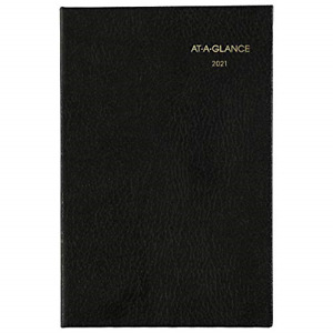 At a glance Fine Weekly monthly Diary 2 3 4 X 4 1 4 Black 2021 72010521