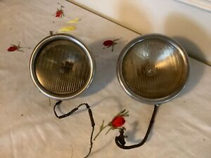 Vintage Pair Ford Twolight Headlamp