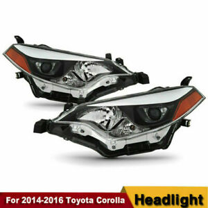 For 2014 2015 2016 Toyota Corolla Led Headlights Headlamp Aftermarket Pair Set