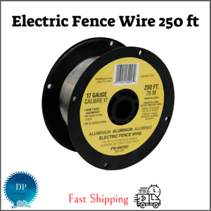 Fi shock Electric Fence Wire 250 Ft Spool Aluminum Wire 17 Gauge Free Shipping