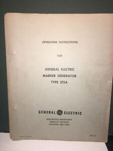 General Electric 4st5a4 Marker Generator Instructions Manual W schematics