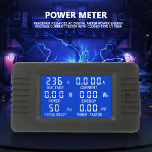 Pzem 022 Ac Digital Meter Power Energy Voltage Current Test W closed Type 100a