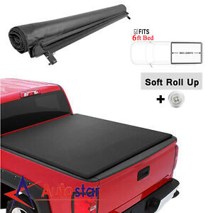 6ft Soft Roll Up Tonneau Cover For 89 04 Toyota Tacoma W Side Mounting Rails