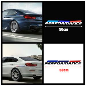 2 Performance Sticker Side Fender Body Bumper Styling Emblem Decal For Bmw New